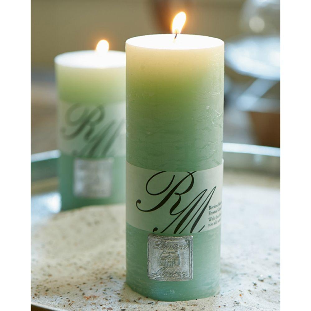 Svíčka Frosted Candle light olive 18x7