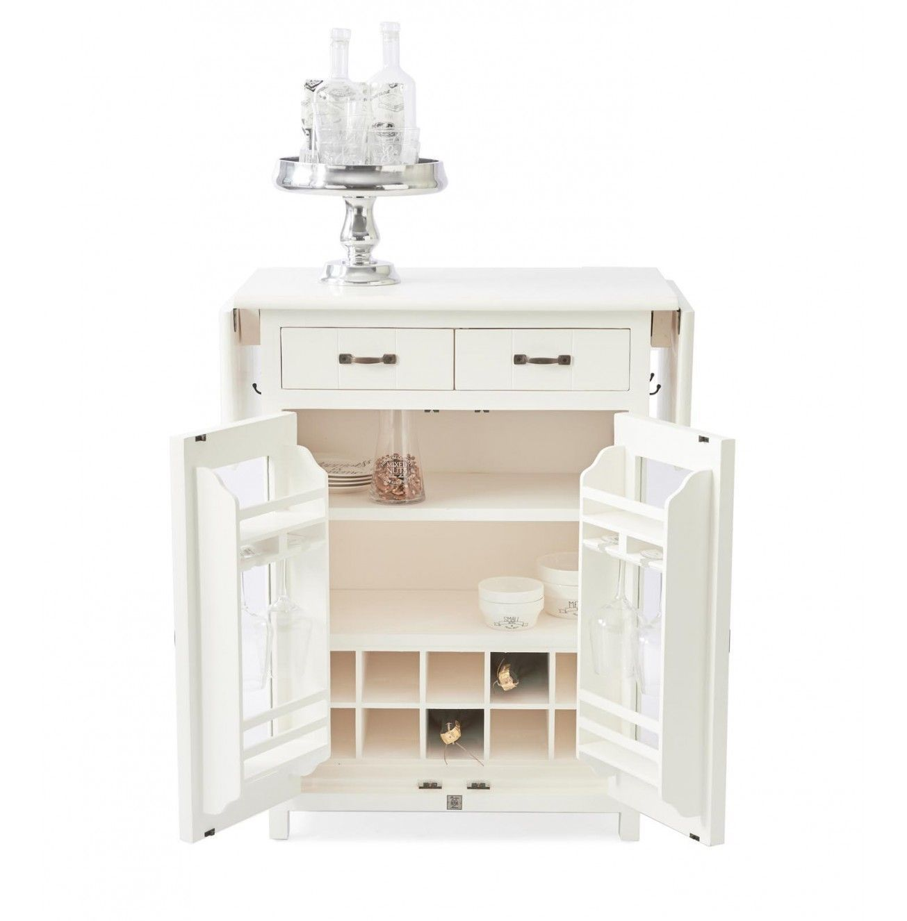 Komoda The Cottage Low Glass Cabinet