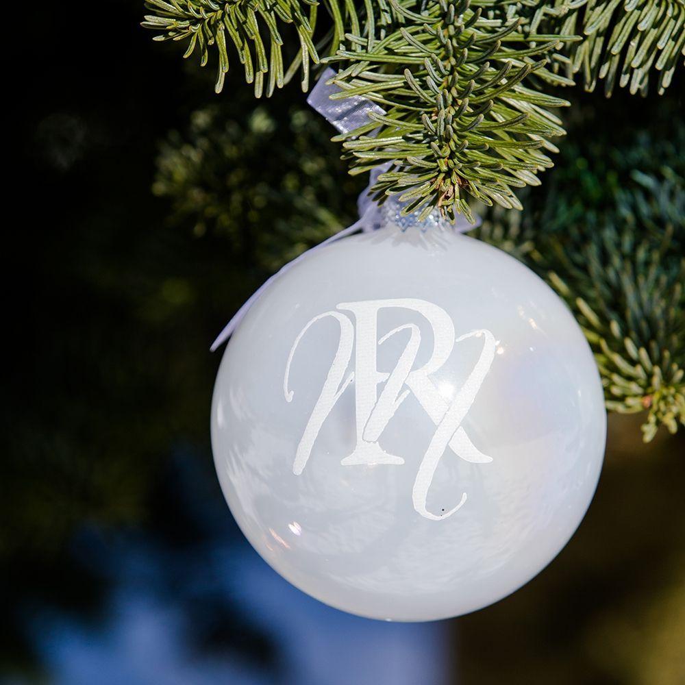 Vánoční ozdoba RM Ornament Pearly white Dia 10