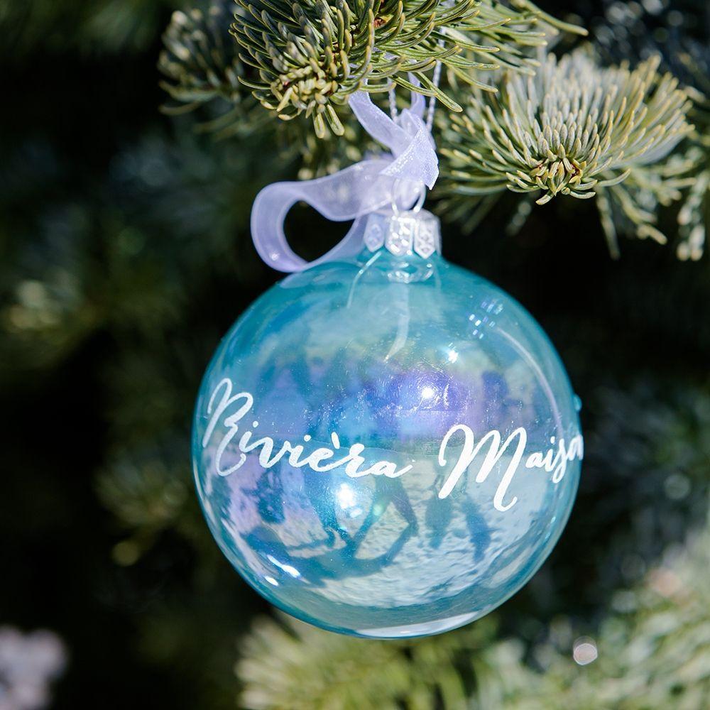 Vánoční ozdoba RM Ornament Pearly blue Dia 8