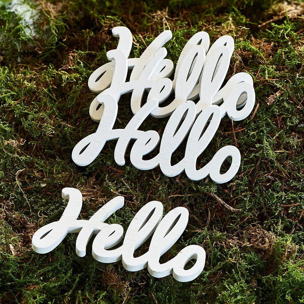 Dekorace Hello Decoration Word 4 pcs