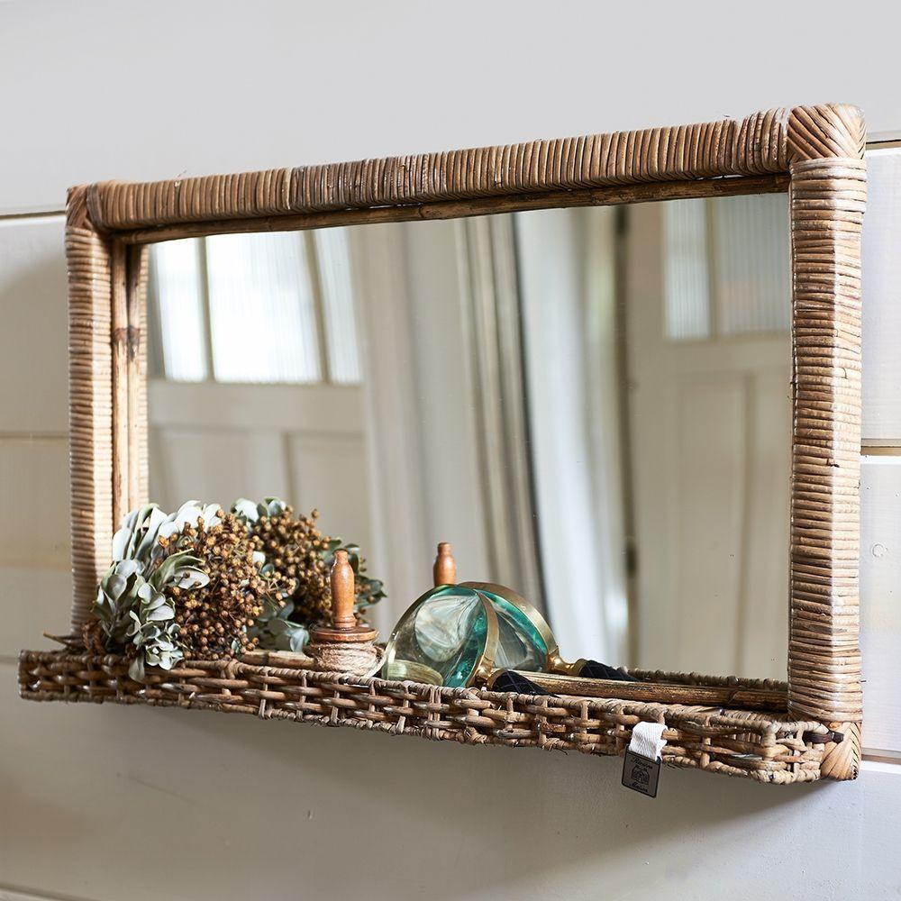 Zrcadlo Rustic Rattan Hall Mirror L