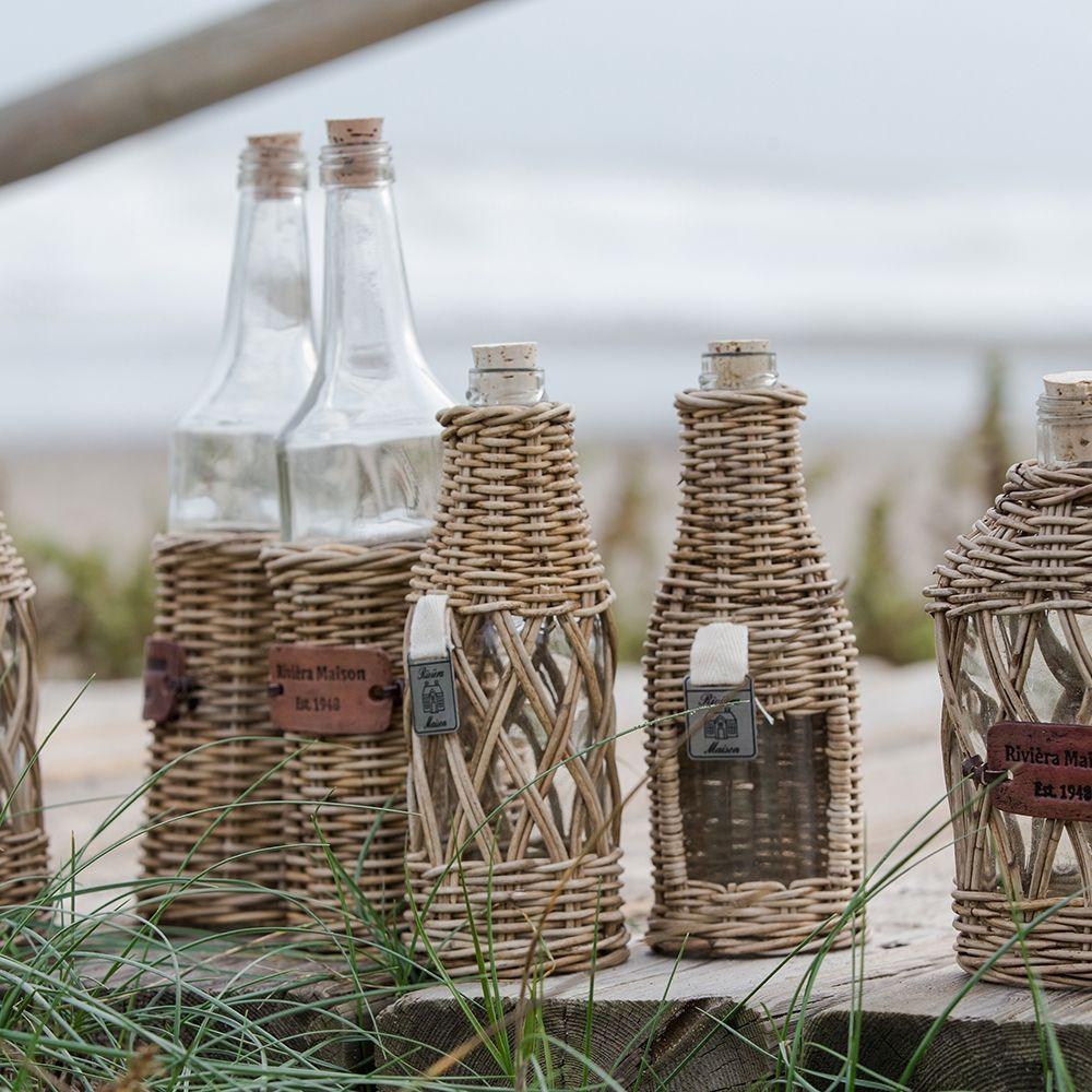 Láhev Rustic Rattan Window Bottle