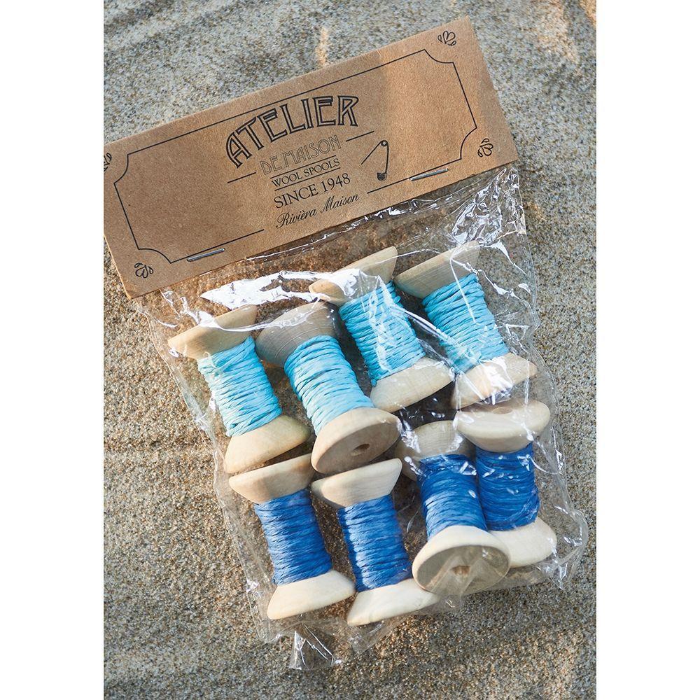 Dekorácia Shades Of Blue Wool Spools