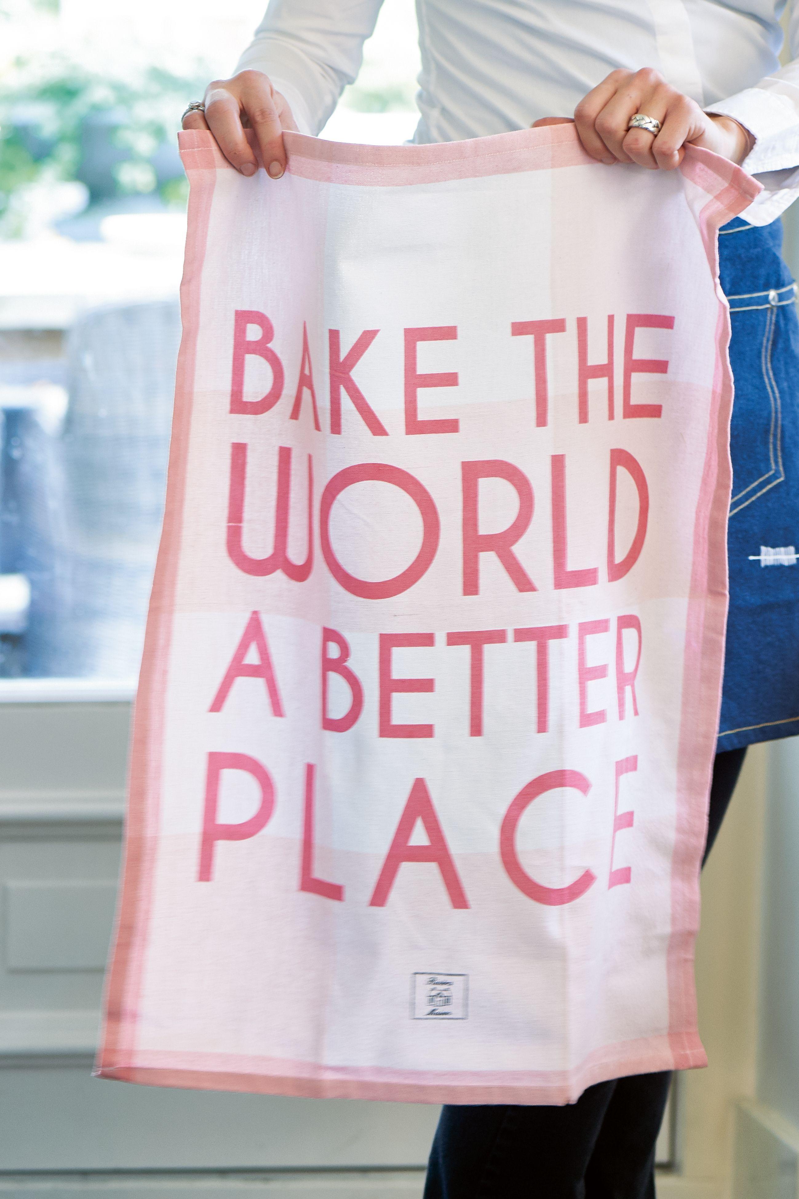 Kuchyňská utěrka Bake The World