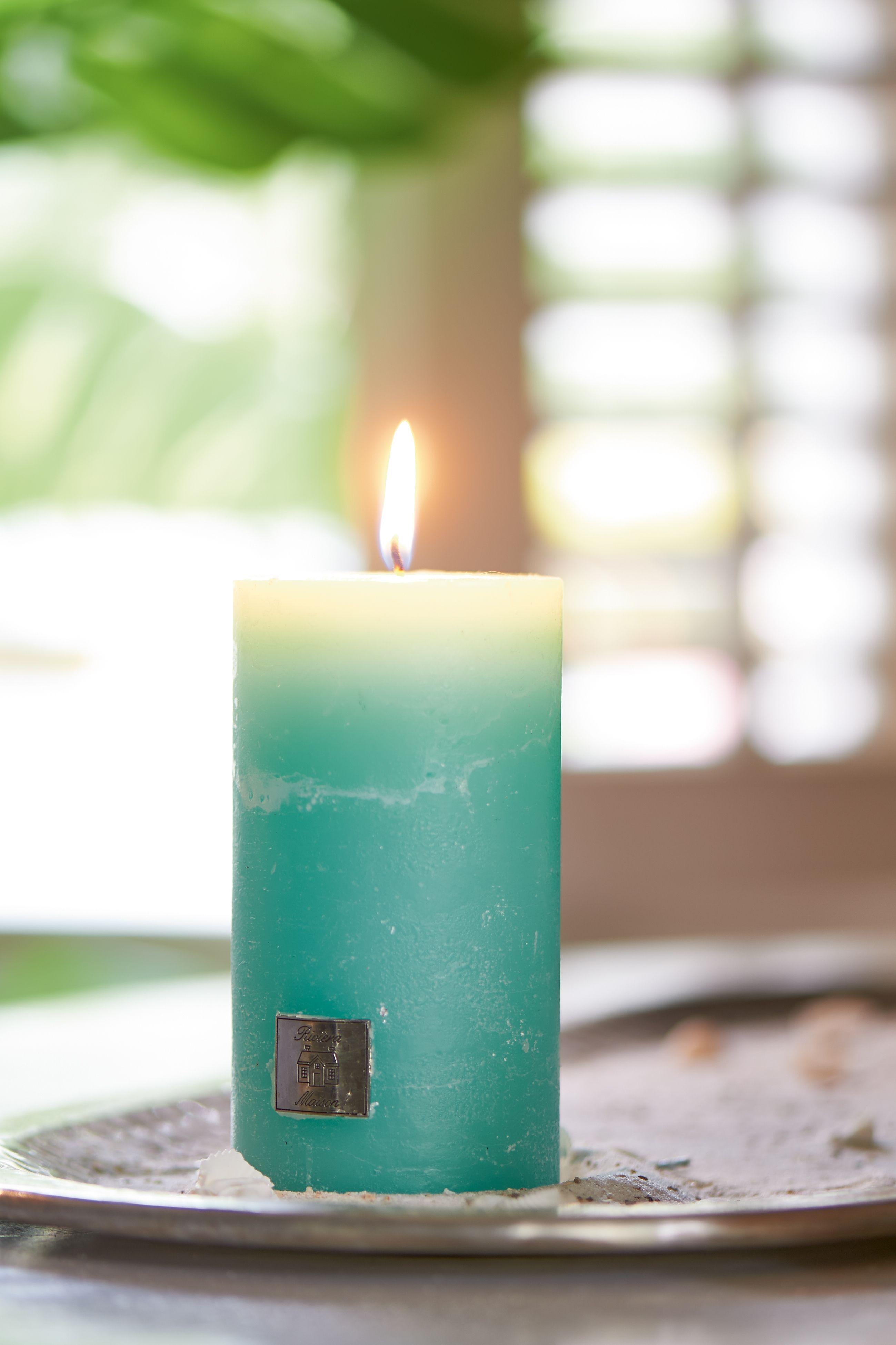 Svíčka Rustic Candle magical 7 x 13 cm - mint