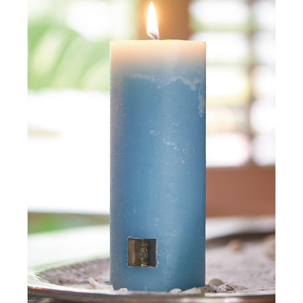 Svíčka Rustic Candle med. blue 7x18