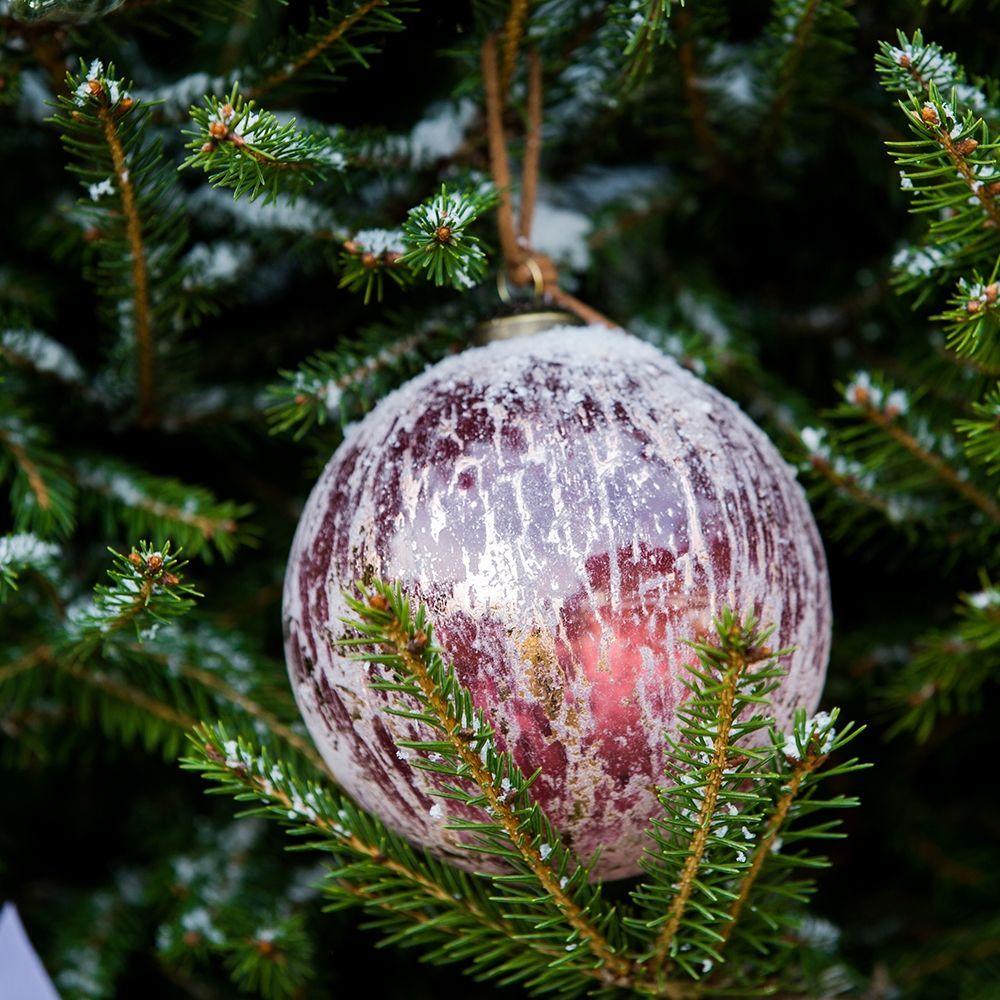 Vánoční ozdoba Provence Vintage red Orn Dia 10