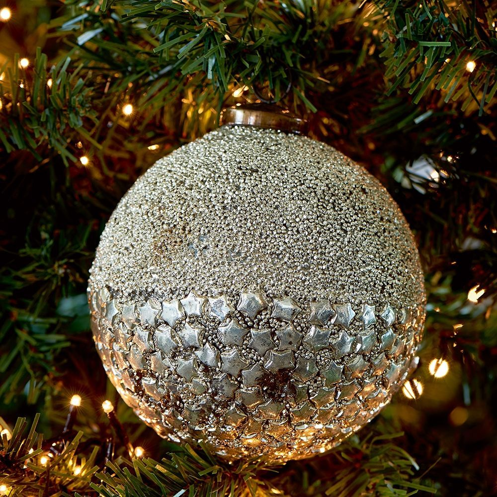 Vánoční ozdoba Sparkling Stars Orn Dia 12 silver