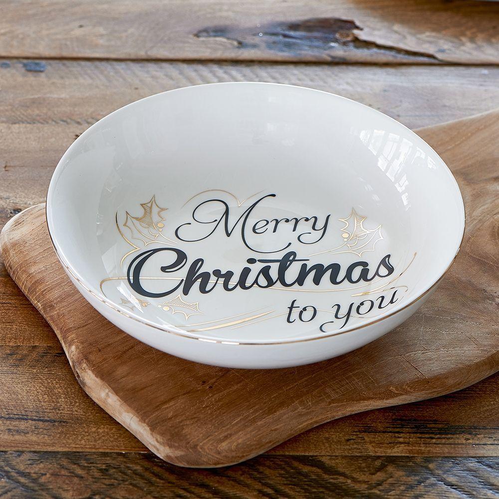 Talíř Merry Christmas To You Soup Bowl