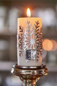 Svíčka s motivem vločky 7x13