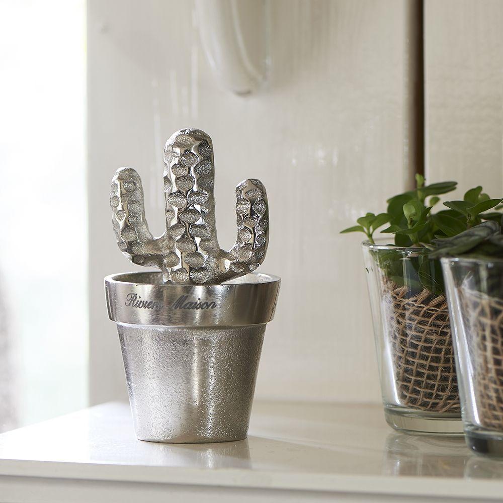 Dekorácia Cool Desert Cactus silver