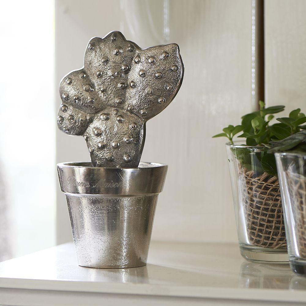 Dekorácia Cool Vintage Cactus silver