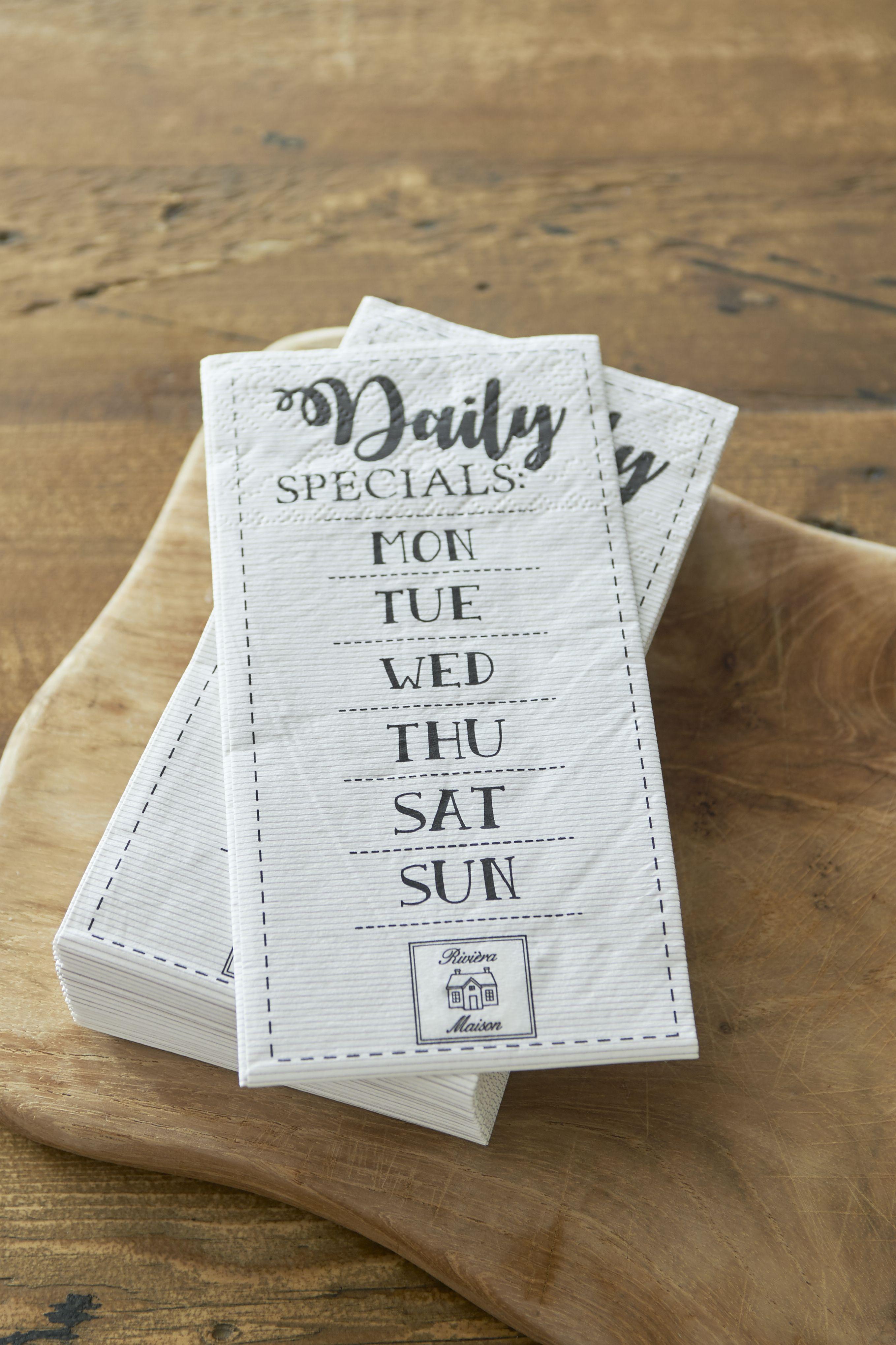 Papírové ubrousky Daily Specials