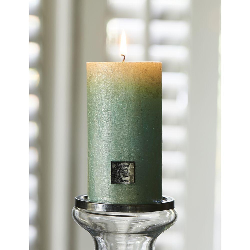 Svíčka Rustic Candle pearl mint 7x13
