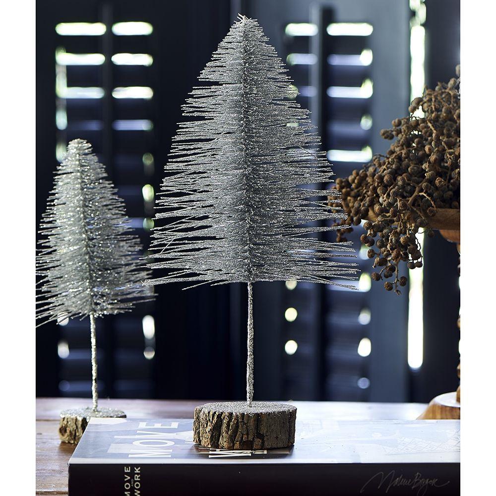 Dekorace Salzburg Christmas Tree silver M