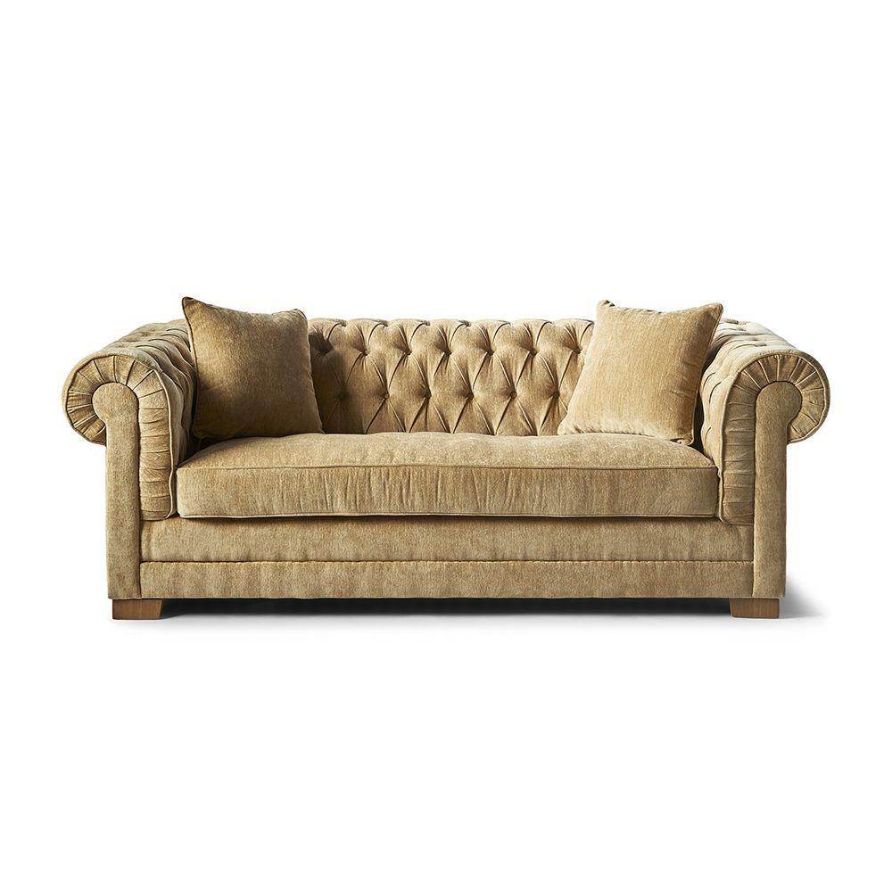 Sofa Crescent Avenue 3 seater, samet, Copper