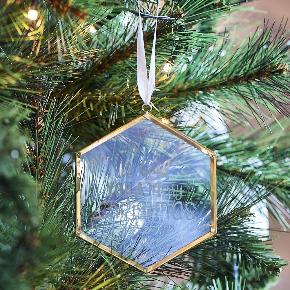 Vánoční ozdoba We Wish You French Glass Hanger