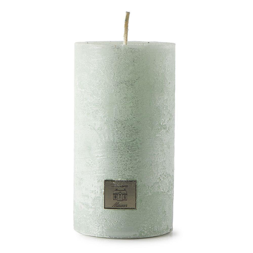 Svíčka Rustic Candle pearl jade 7x13