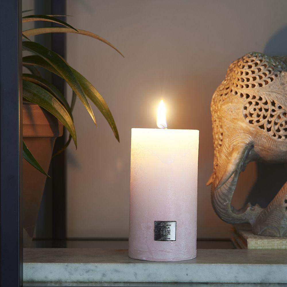 Sviečka Rustic Candle peony pink 7 x 13
