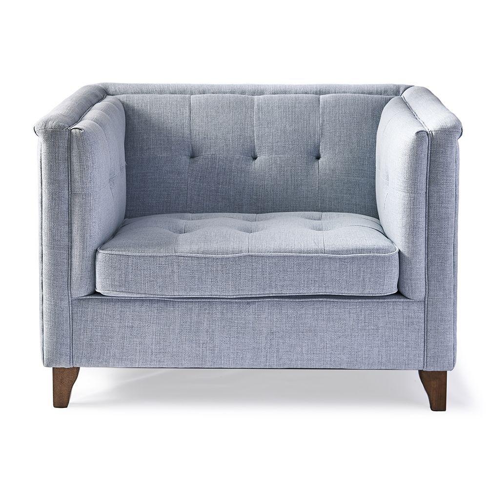 Radziwill Love Seat, Linen, Blue