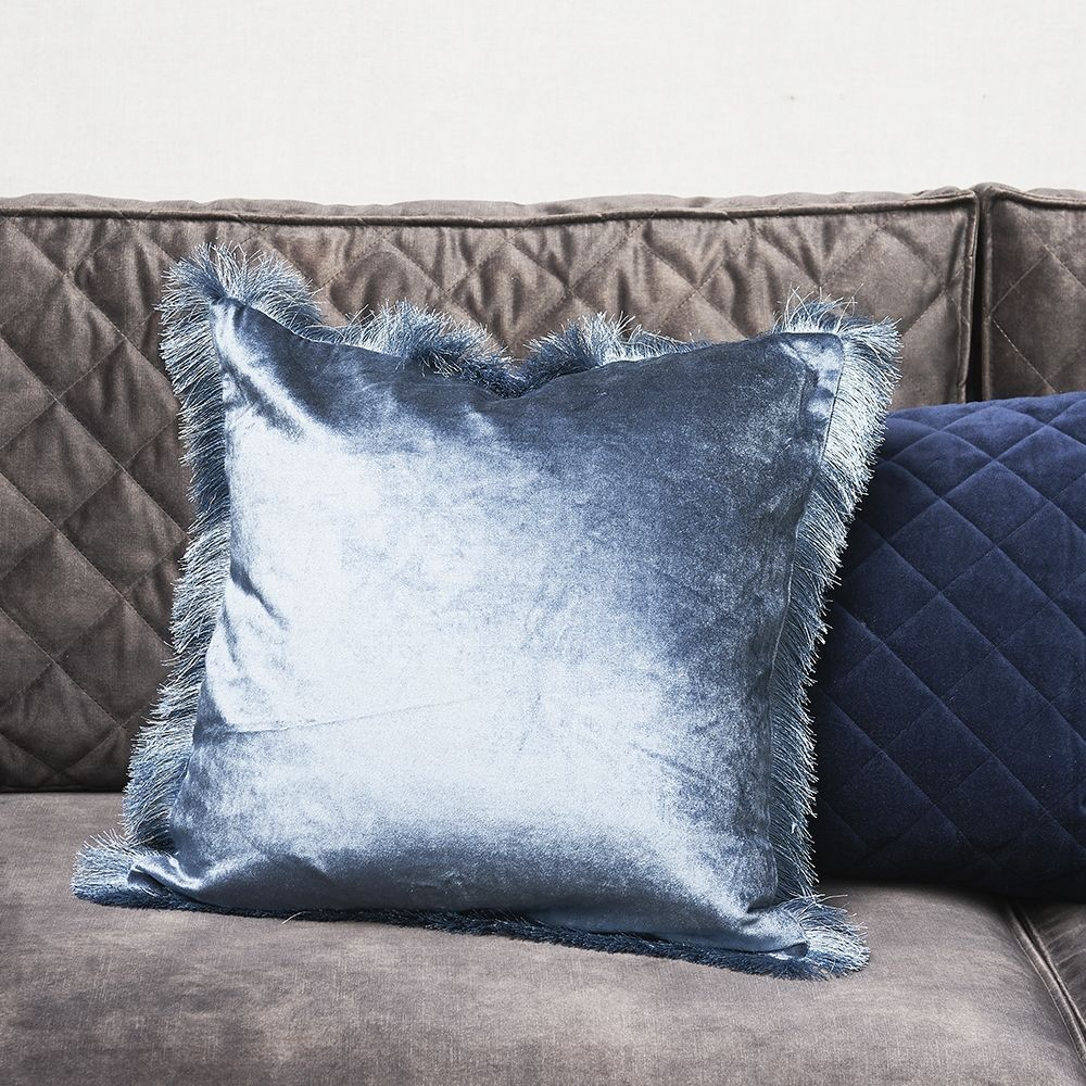 Návlek na polštář Fabulous Fringe Pillow Cover midnight blue 50 x 50