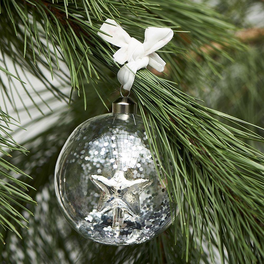 Vánoční ozdoba Pretty Star Ornament silver Dia 10