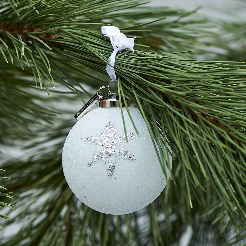 Vánoční ozdoba Happy Star Ornament silver