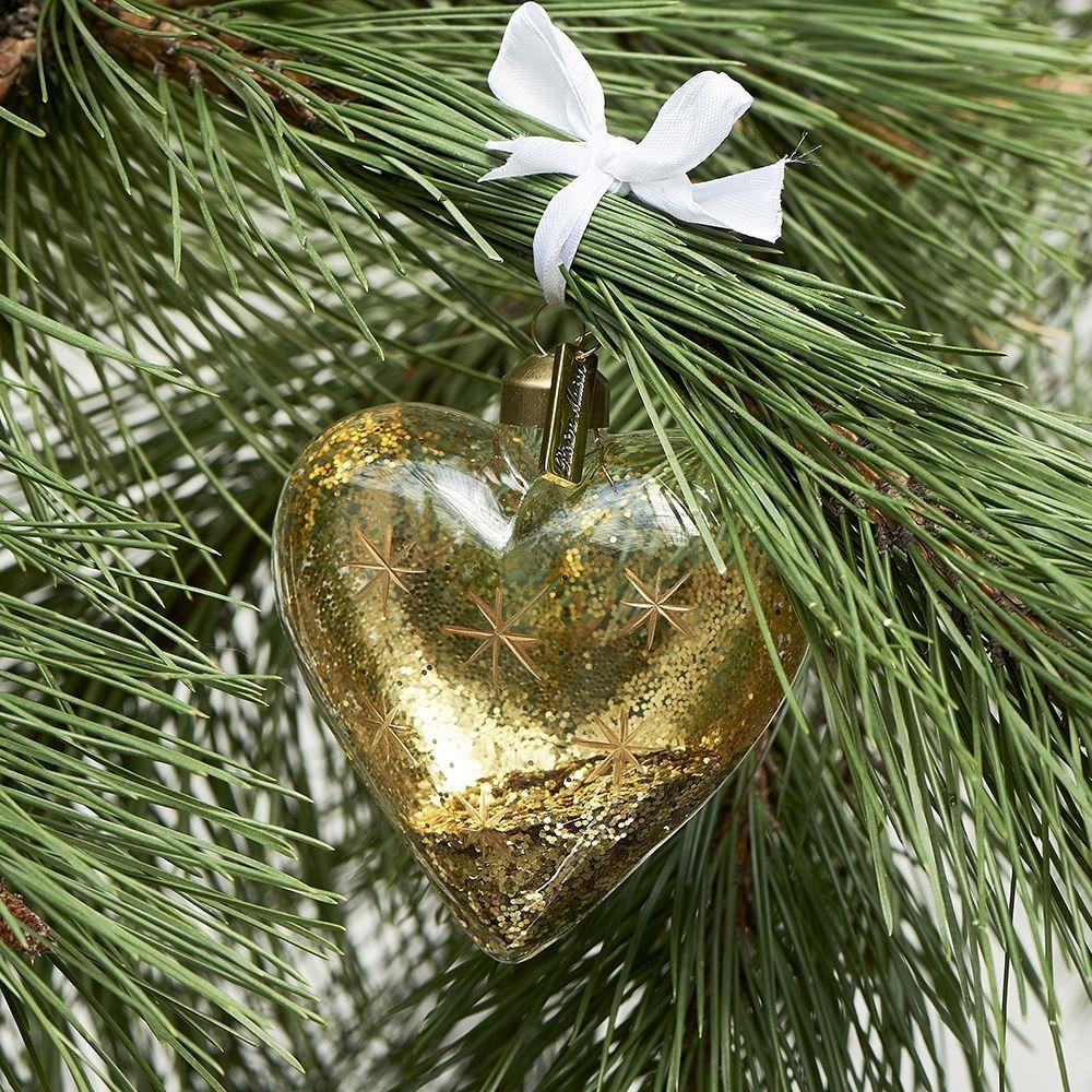 Vánoční ozdoba Sparkling Snowflake Heart Ornament