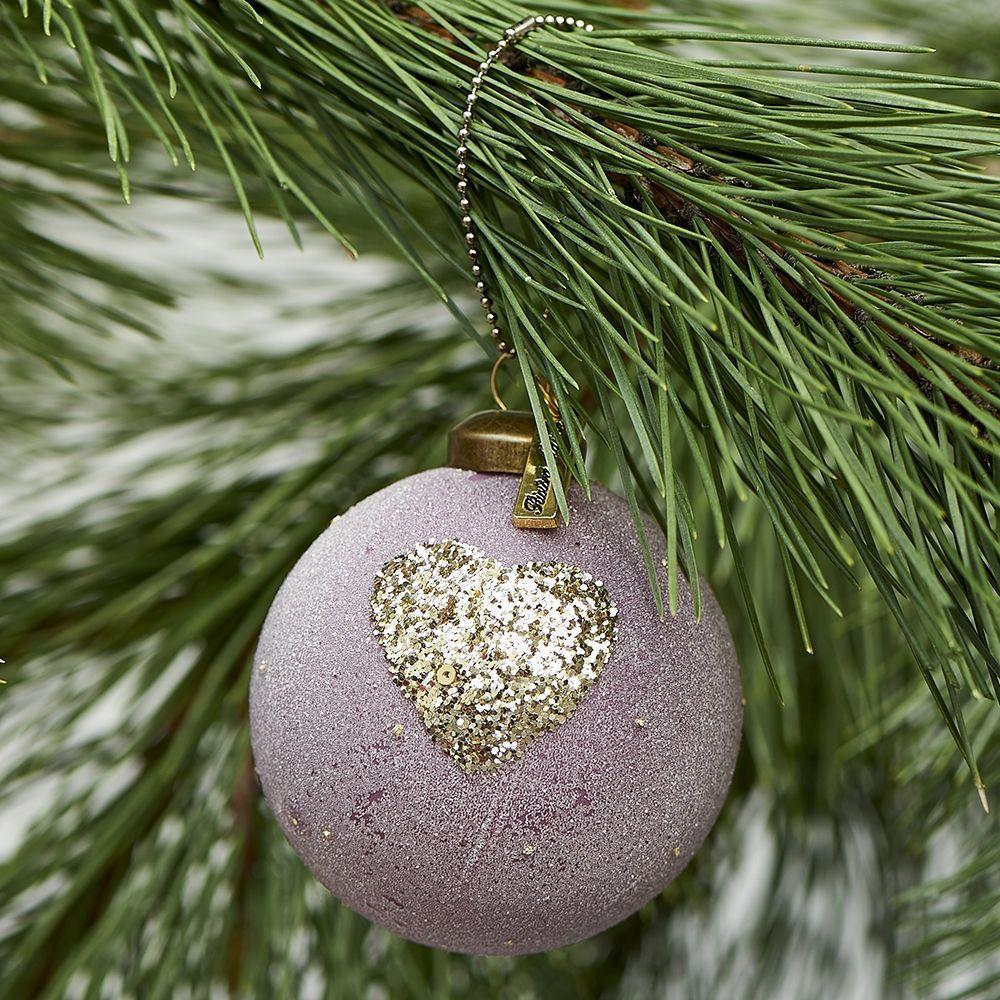 Vánoční ozdoba Pretty Heart Ornament dusty pink