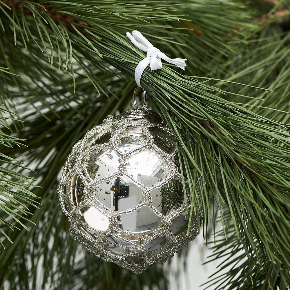 Vánoční ozdoba Sandringham Ornament silver