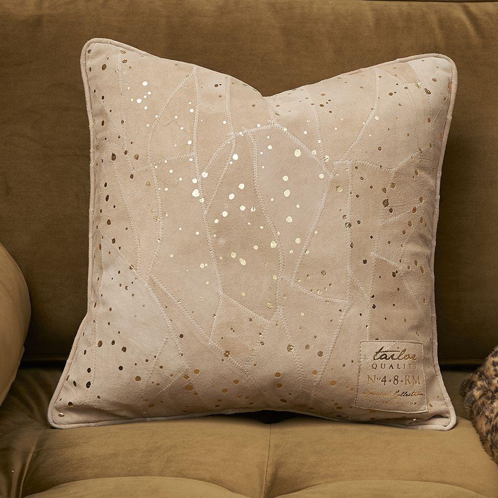 Návlek na polštář Sparkle Spot Leather Pillow Cover gold 40 x 40