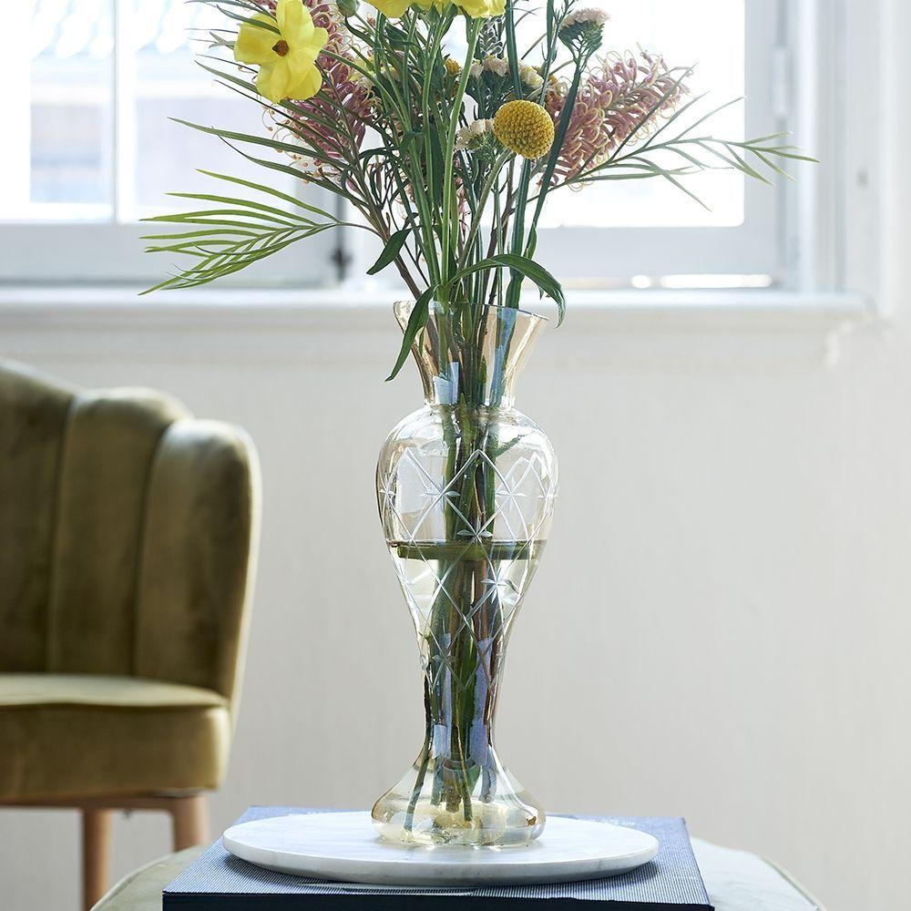 Váza Luxury Diamond Carved Vase gold