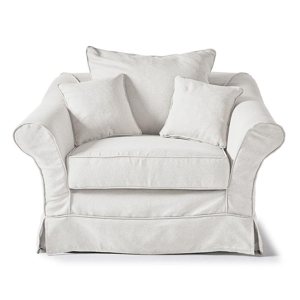 Bond Street Love Seat, Oxford Weave, Alaska White