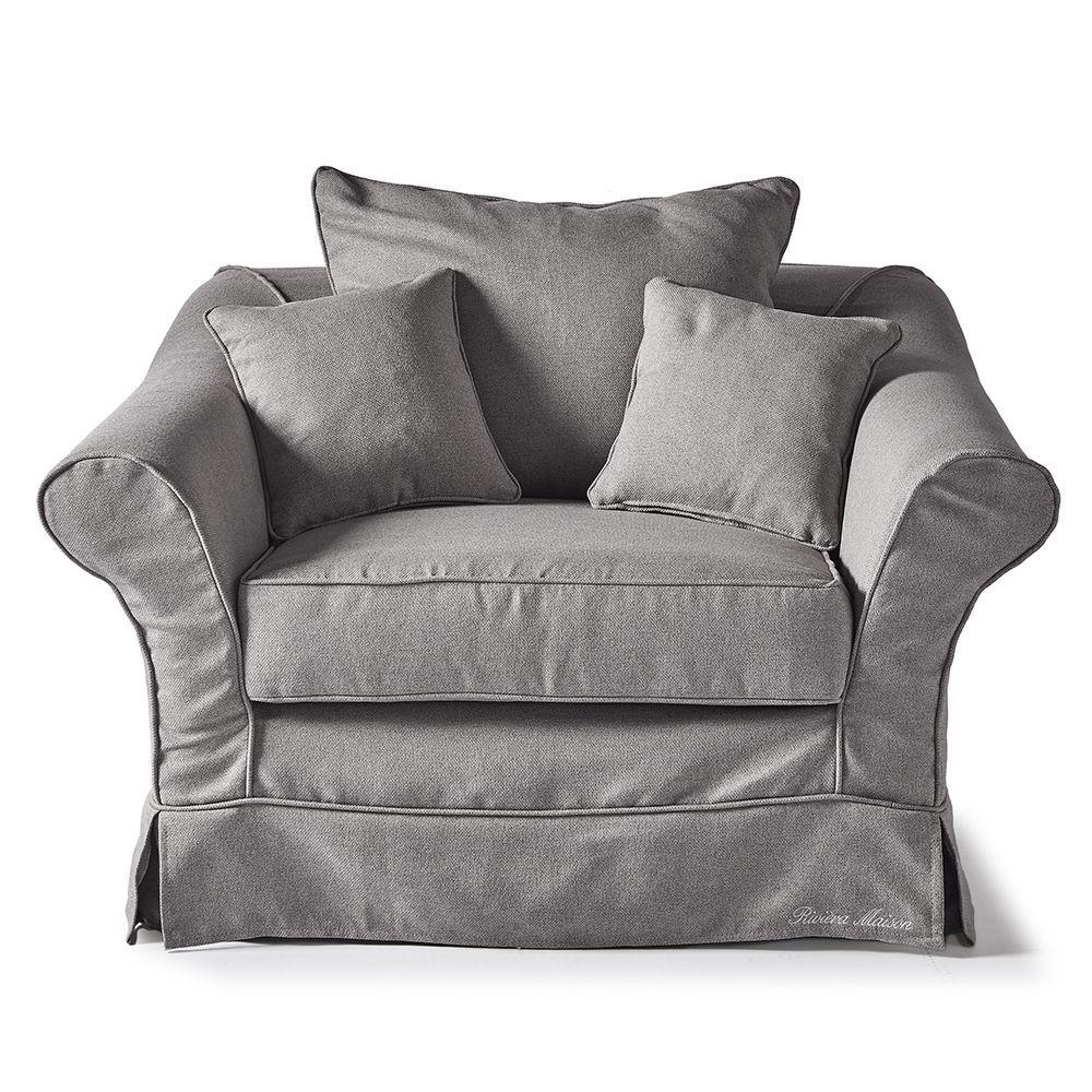 Bond Street Love Seat, Oxford Weave, Steel Grey