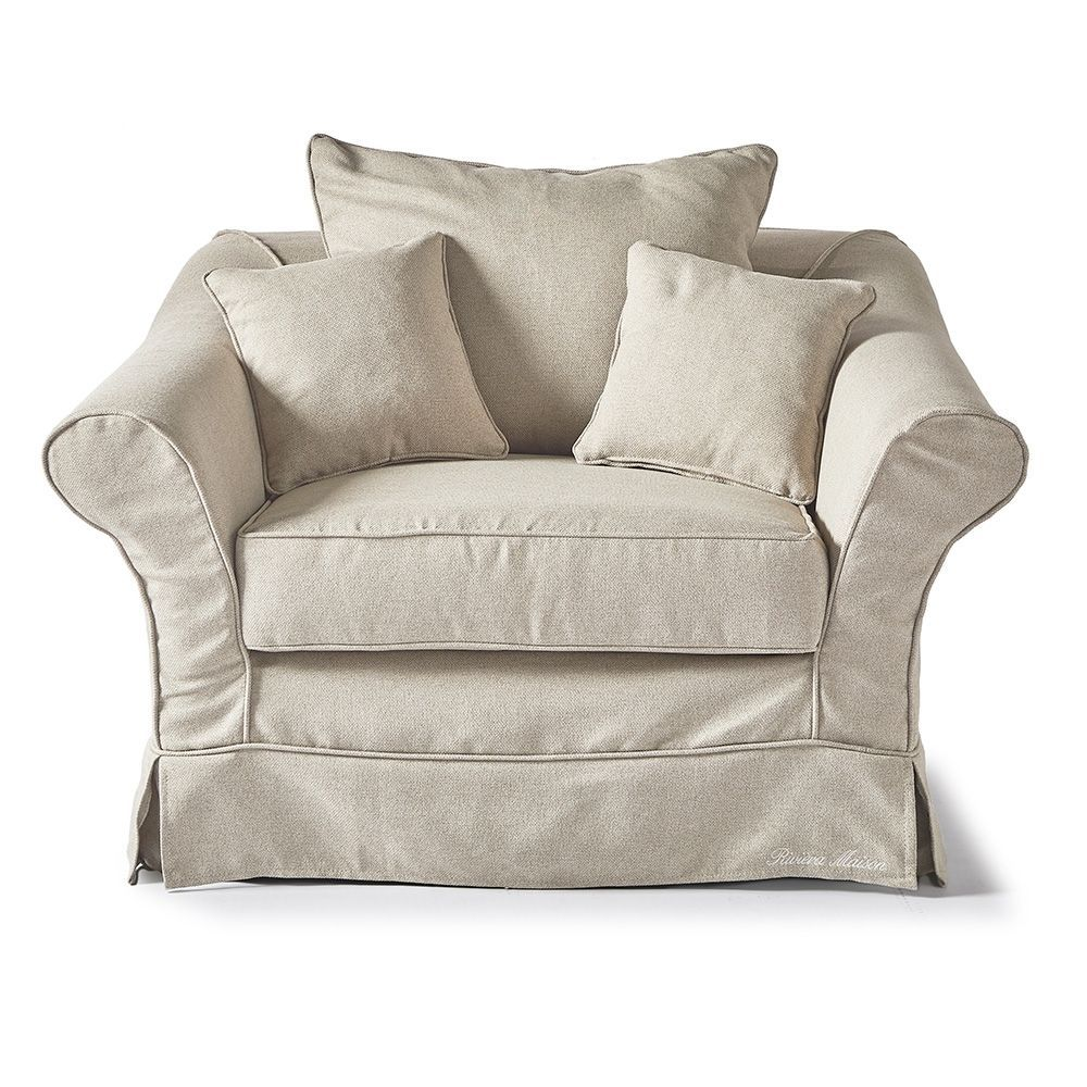 Bond Street Love Seat, Oxford Weave, Flax