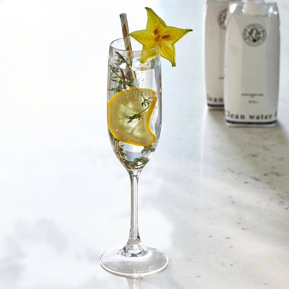 Beach Vibes Champagne Glass