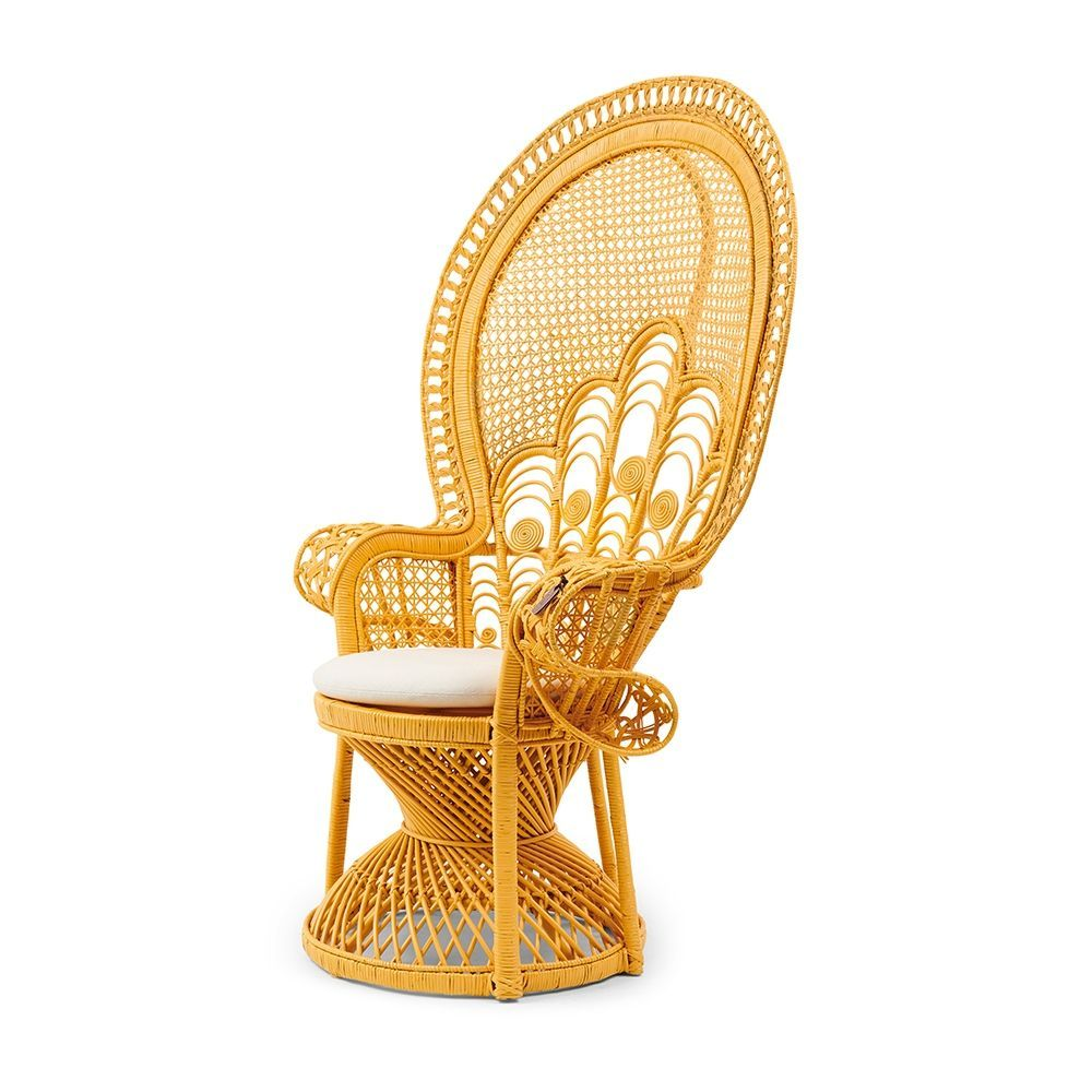 Křeslo Greenport Peacock Chair, Yellow