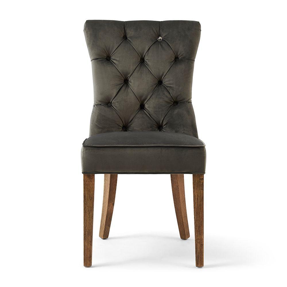 Jídelní židle Balmoral, Grey, Velvet