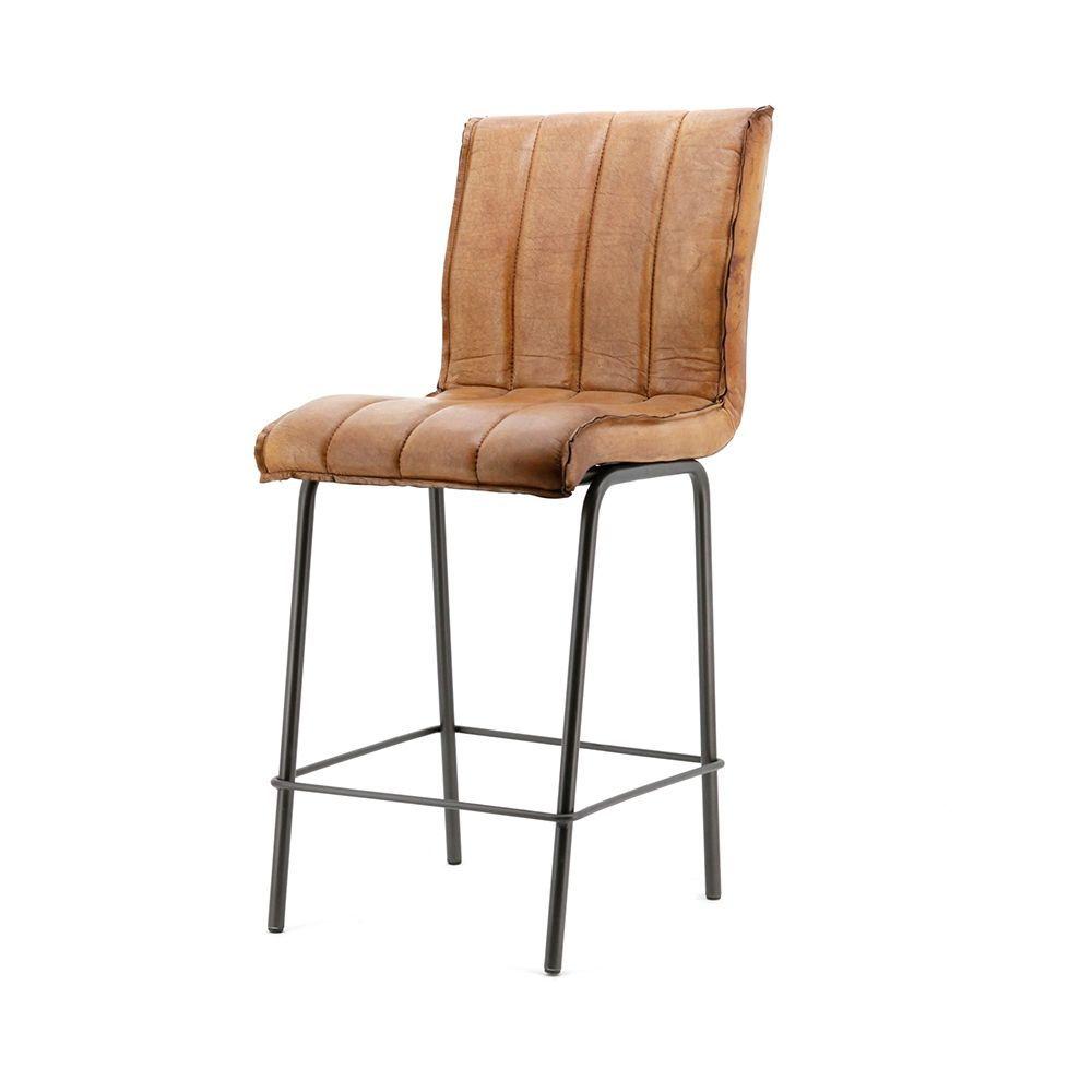 Nízká barová židle Marvin, Cognac