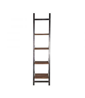 Book Rack Mango with metal frame - black