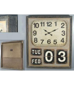 Wall clock + Timetable Beige 90x78