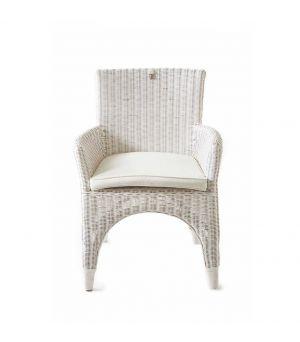 Ratanová jídelní židle The Hamptons white