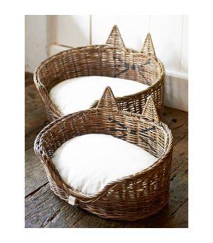 Košík pro kočku Rustic Rattan Cat Basket S/2
