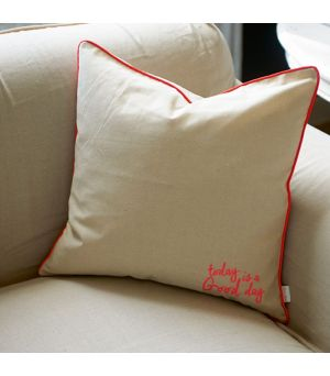 Today is a ..... neon orange pillow cover 50x50cm