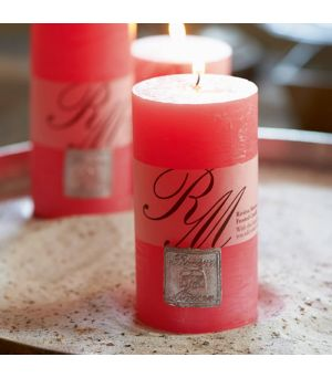 Frosted candle precious pink 13x7cm