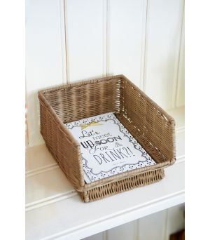 Organizér  Rustic Rattan Office Basket