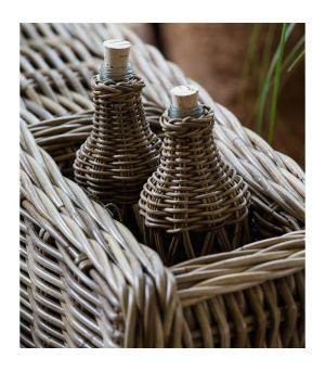 Lahev Rustic Rattan Open Weave Bottle