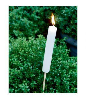 Svícen Garden Torch white S