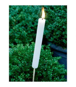 Svícen Garden Torch white L